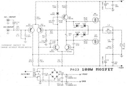 100W Power Audio Amplifier Diagram based FET K134 and J49