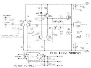 100w mosfet amplifier diagram