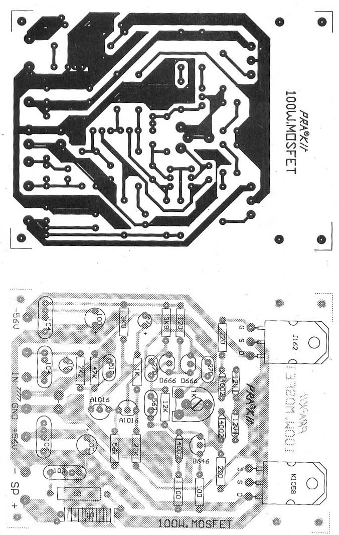100w mosfet amplifier pcb design