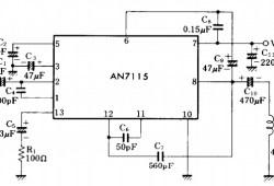 Mini Audio Amplifier using IC AN7115