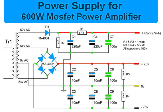 600w Mosfet Power Amplifier Amplifier Circuit Design
