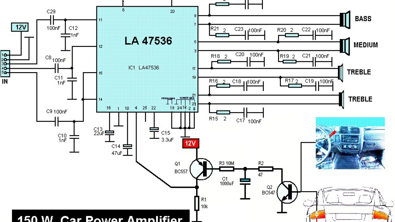 150W Car Audio Amplifier - Amplifier Circuit Design