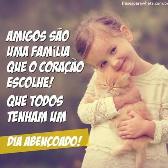 Amigos são uma família! bom dia