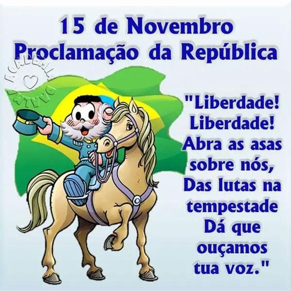 Vamos comemorar o dia da proclamação da republica