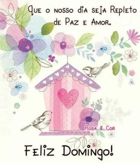 Que nosso dia seja repleto de paz e amor! Feliz domingo!