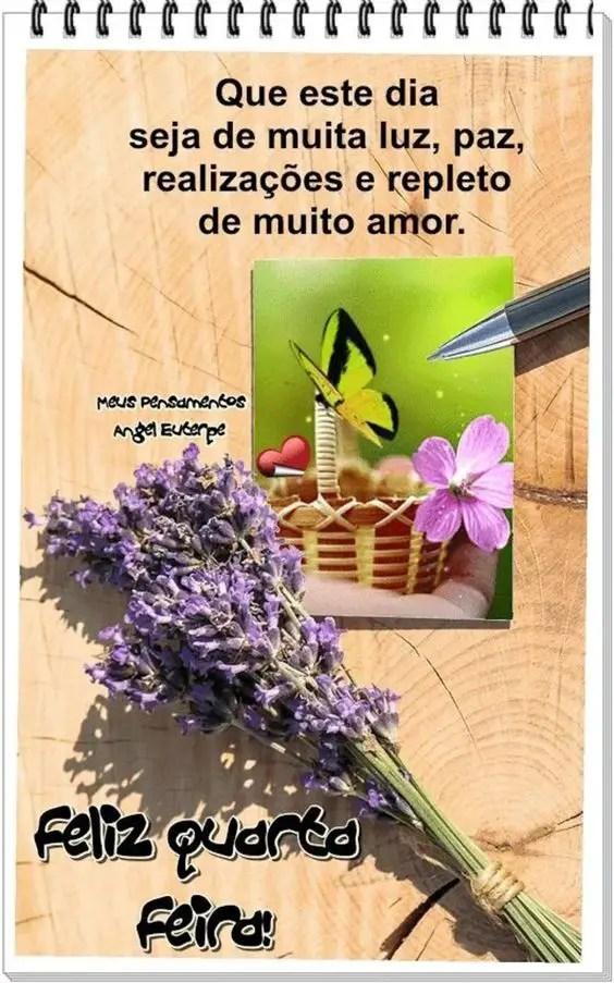 Feliz Quarta-feira com flores