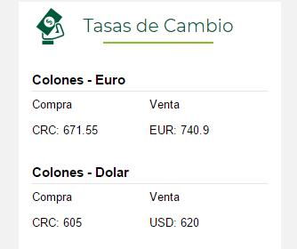 tipo de cambio euro dolar bac san jose