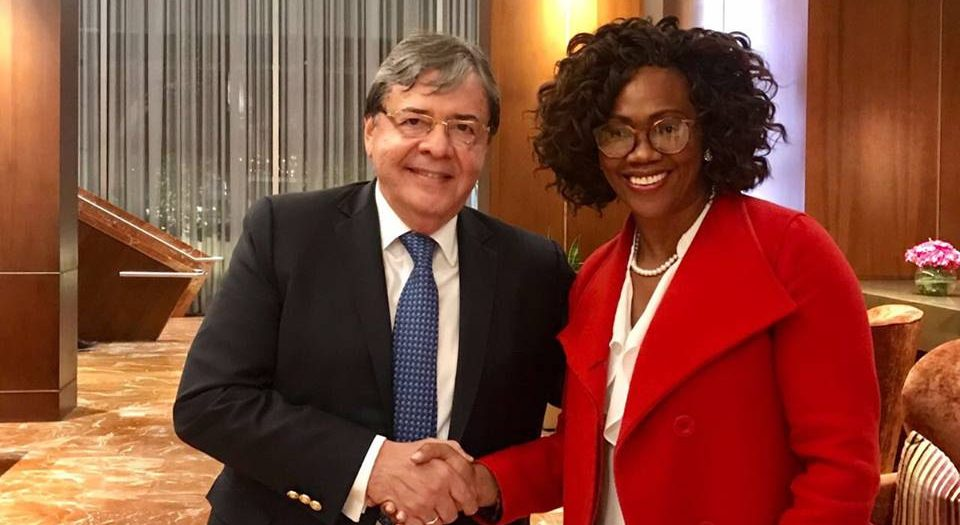 Carlos Alvarado asiste a transmision de mando presidencial en Colombia