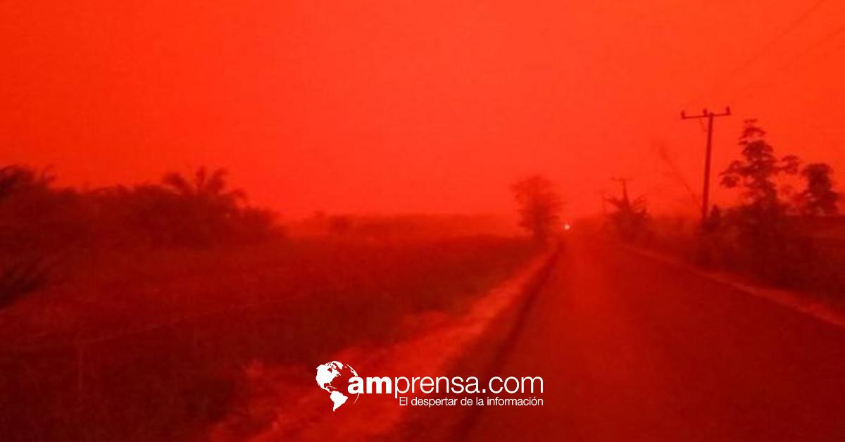 Incendios forestales pintan de rojo el cielo de Indonesia