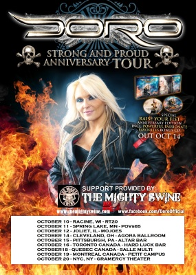Doro N American Tour 2014 Poster