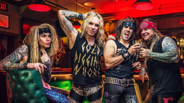 Steel Panther's Stix Zadinia Lowers The Bar With Amps And Green Screens!!