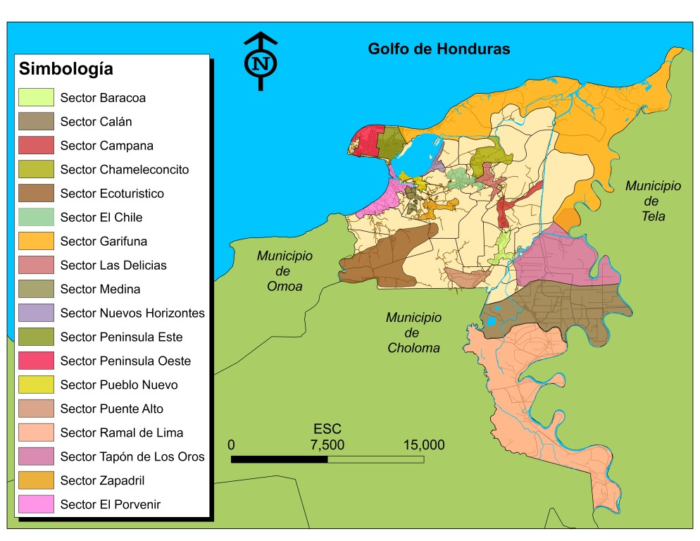 Mapa de Sectores del Municipio (Medium)