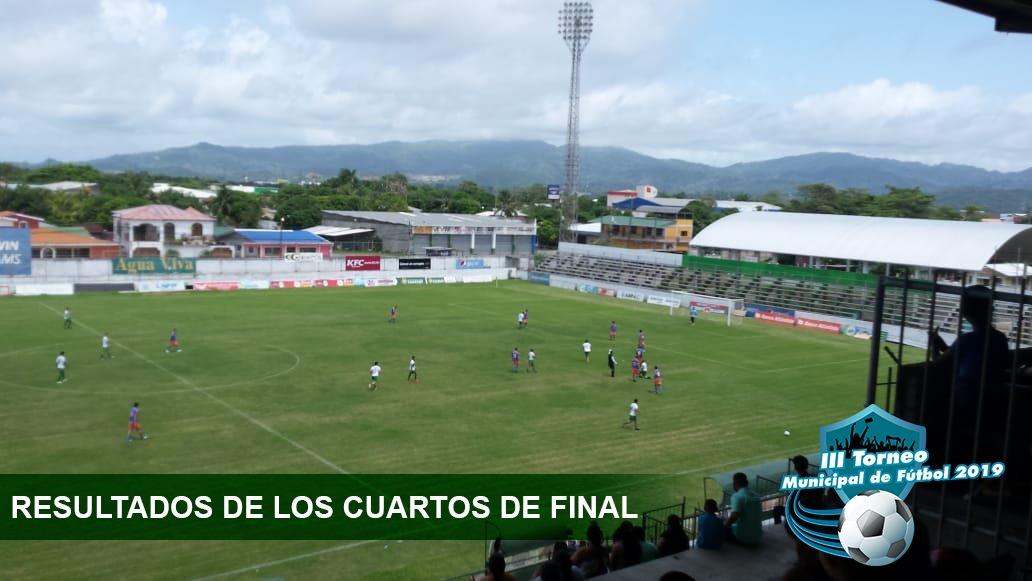 Resultados de los Cuartos de final del Torneo Municipal de Fútbol.