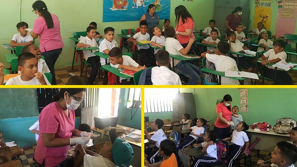 Fluorizamos a 416 alumnos de la escuela Benigno Augusto Estrada.