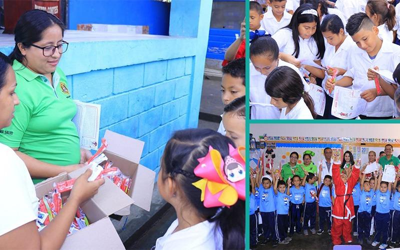 Entregamos 1,211 Set de Higiene Bucal a alumnos de Prebásica del municipio.