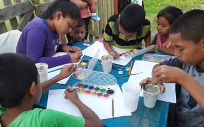 Desarrollamos Taller de Pintura en barrio San Isidro.