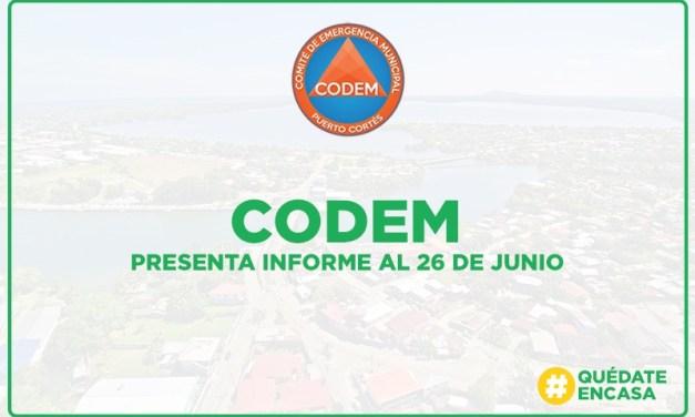 CODEM presenta informes, al 26 de Junio.