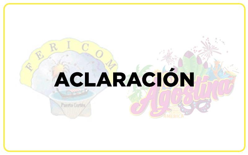 Aclaración sobre la Feria Agostina Virtual 2020.