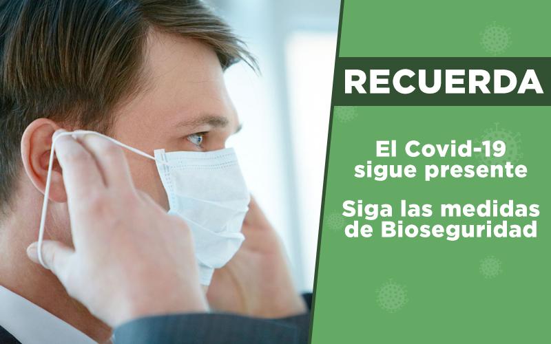 Todos contra el COVID-19, no olvides las medidas de bioseguridad.