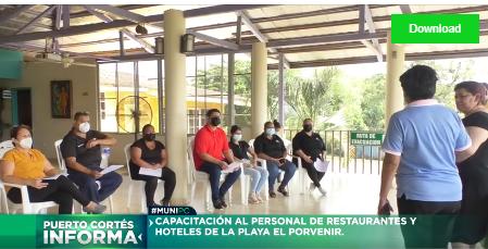 Capacitamos a restauranteros de El Porvenir.