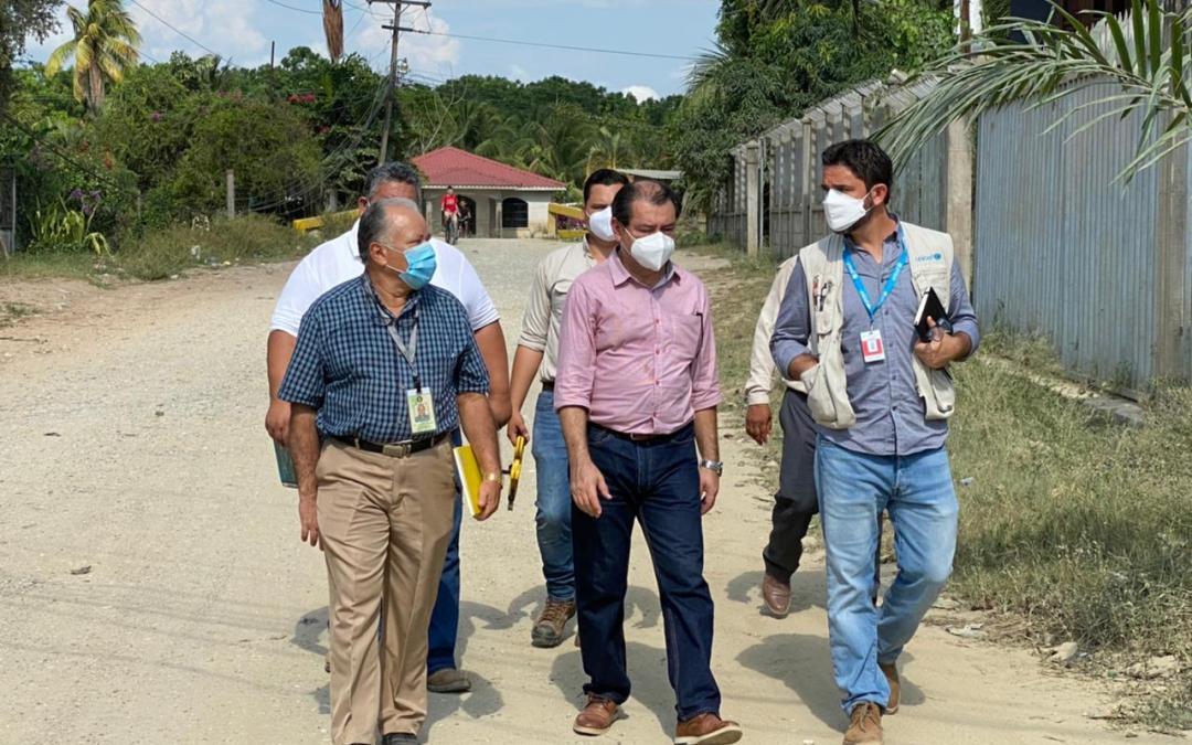 En conjunto con UNICEF supervisamos los avances de la reconstrucción del Centro de Salud de Calán