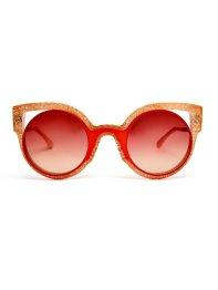 Fendi Glitter round frame sunglasses