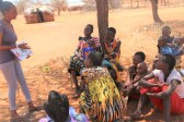 Josephine sensitizing mothers in Kalama conservancy on maternal and child health (002)