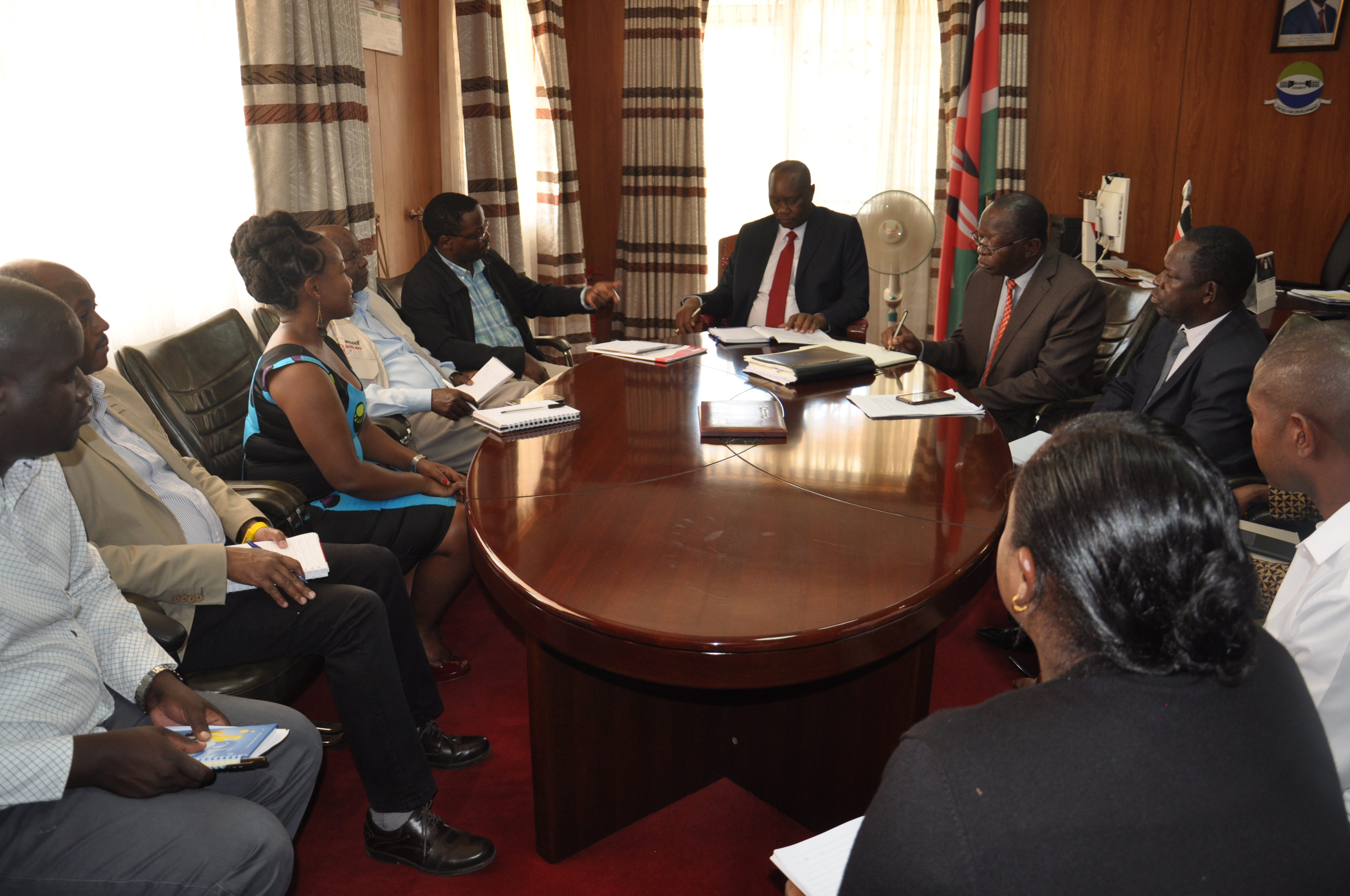 A team from Amref Health Africa in Kenya visits Busia County Governor to share insights on Amref's work