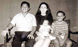 Soetoro family with Barack