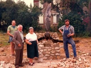 Mémorial en construction, les acteurs