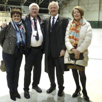 Mr et Mme Graham Bauwerman premier Wing/commandeur a être venu à Vraux avec M. et Mme Denis Rigollet