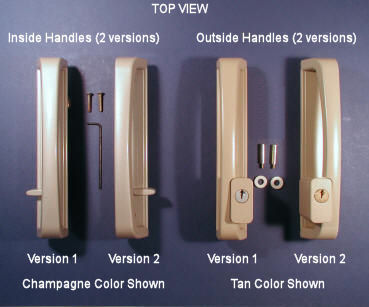 pella patio door handles