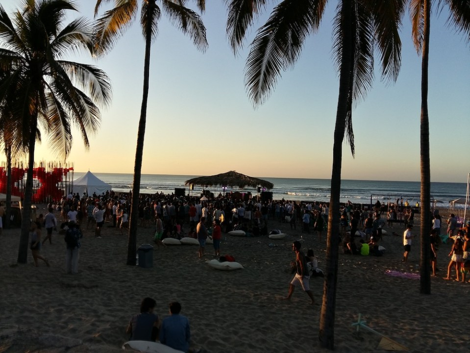 Tepeme music festival at the beach in mexico