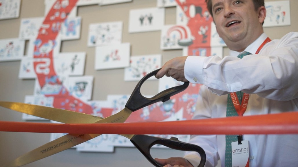 exhibITion ribbon cutting