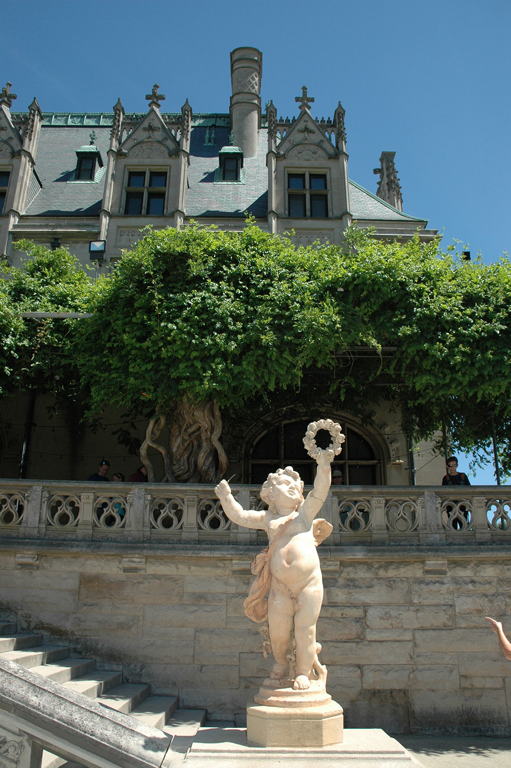 Cherub statue at Biltmore