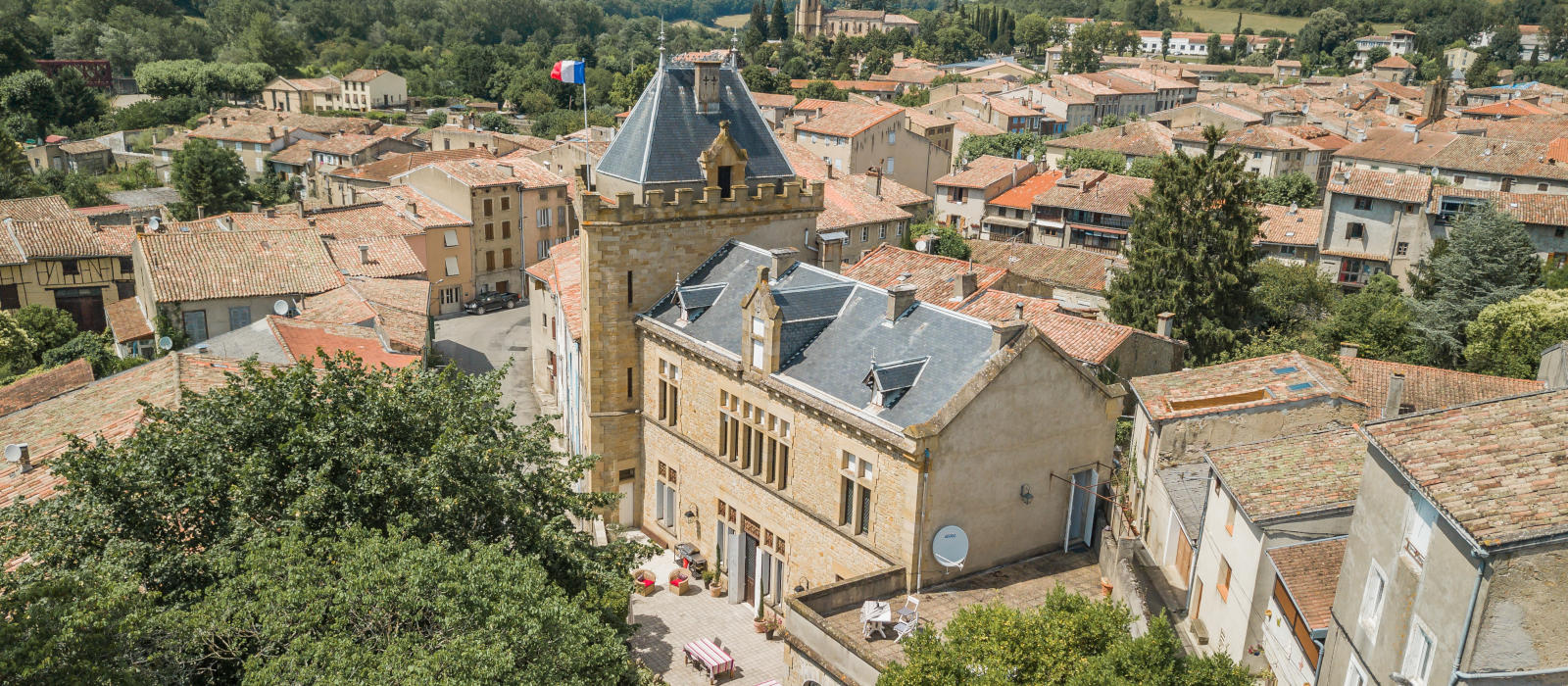 French Chateau Art Holiday