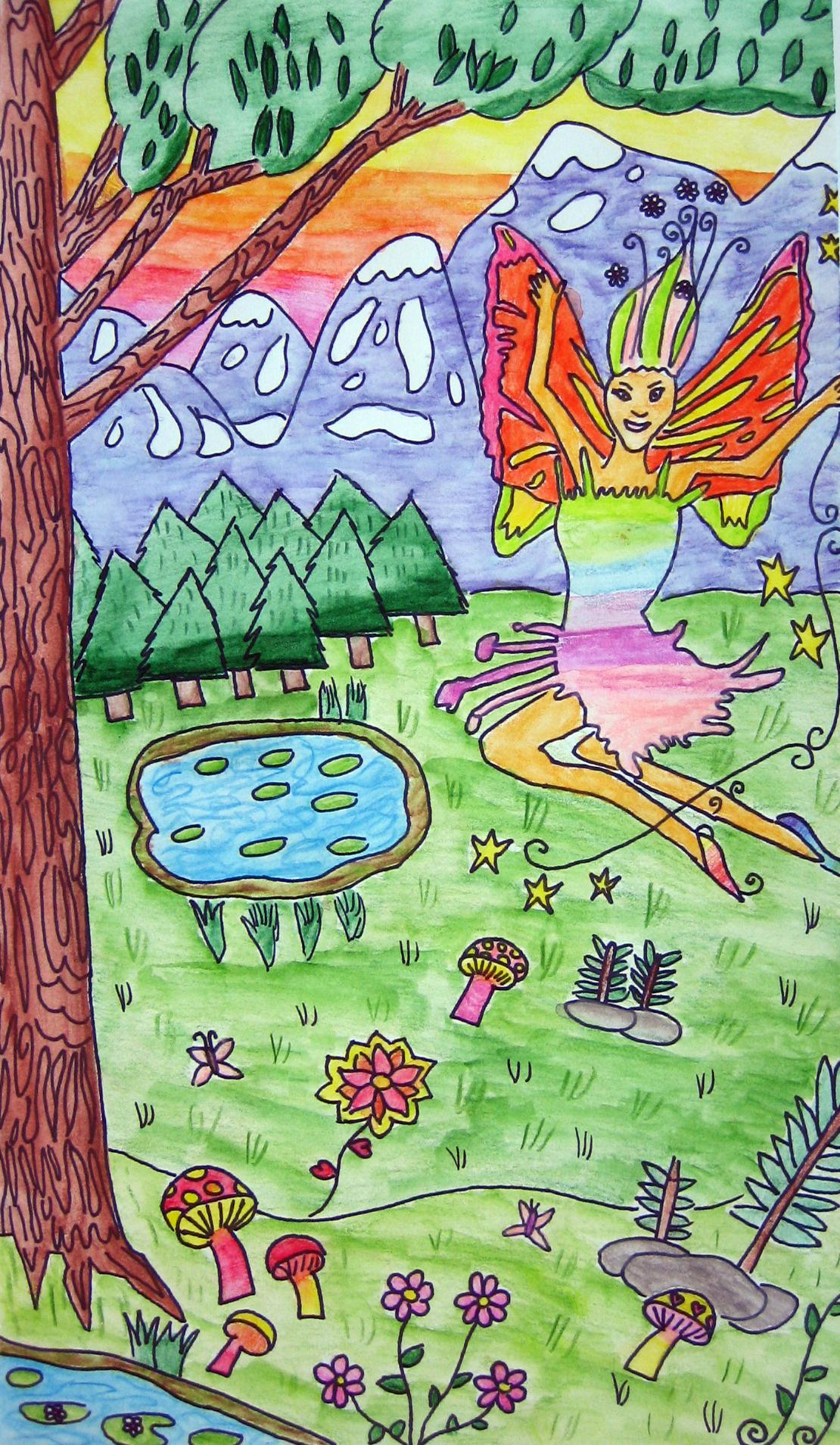 Fantasy Landscape Drawings Ms Amslers Artroom