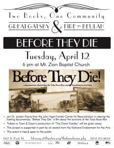 Screening and Discussion of Before They Die w/ Dr. Jocelyn Payne @ Mt Zion Baptist Church
