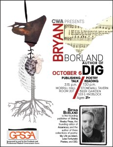 Creative Writing Series: Poet Bryan Borland Talks about his Poetry @ Stonewall Tavern, 115 S. Knoblock