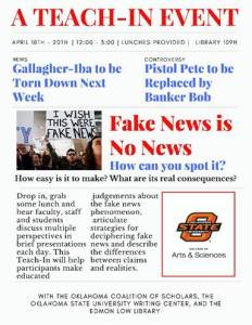 Fake News is No News -- Teach-in @ Edmon Low Library 109H