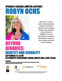 "Robyn Ochs, ""Beyond the Binaries"" Workshop"