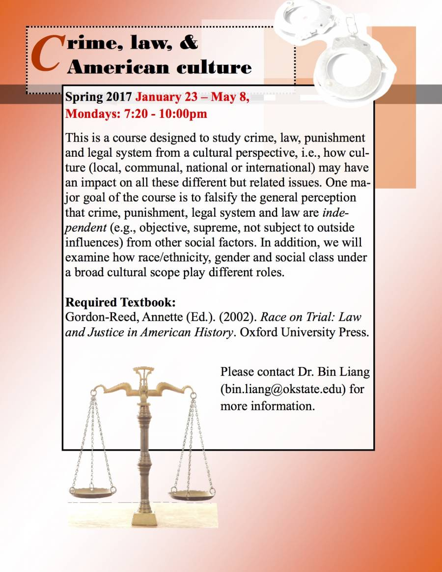 AMST3333 Crime, Law and Am Culture