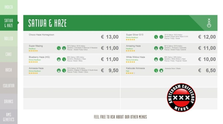 Coffeeshop boerejongens sloterdijk menu