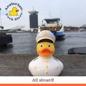 Hop on and cross Het IJ with Captain Rubber Duck!