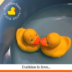 In our store we have a small tub where we can test the ducks. Well, it's more for fun actually. We love to play with ducks too :). Most of the time the ducks just float around. Or do they?