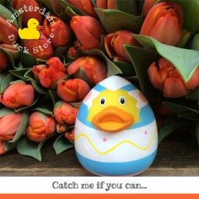 Easter Egg Rubber at the Bloemenmarkt (Flowermarket)
