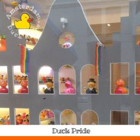 Welcoming ducks of all colors and feathers @ Pride Amsterdam — bij Amsterdam Duck Store.