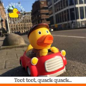 Driver rubber duck Raadhuisstraat Amsterdam Duck Store