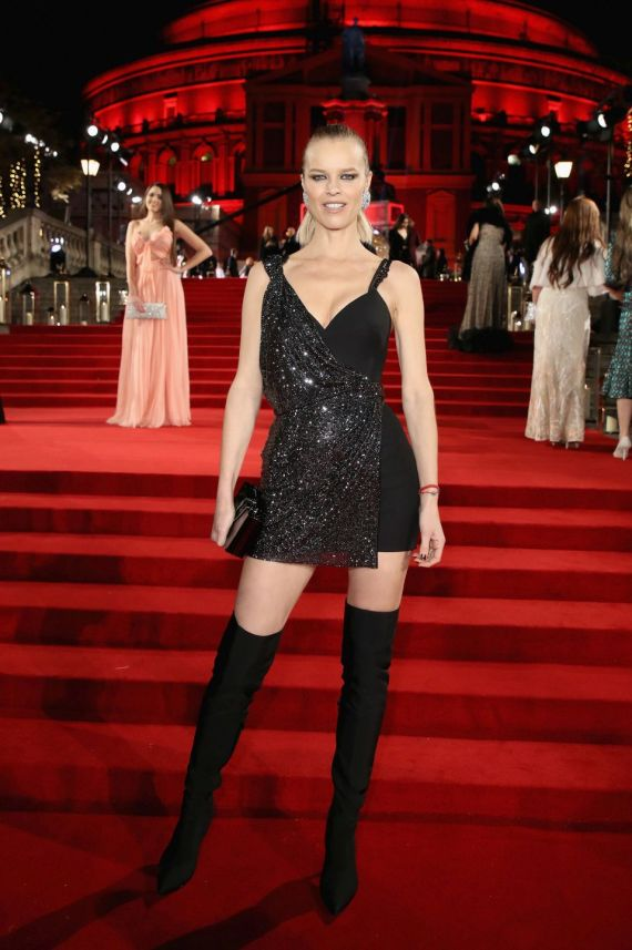 LONDON, ENGLAND - DECEMBER 04: Eva Herzigova attends The Fashion Awards 2017 in partnership with Swarovski at Royal Albert Hall on December 4, 2017 in London, England. (Photo by Mike Marsland/BFC/Getty Images)