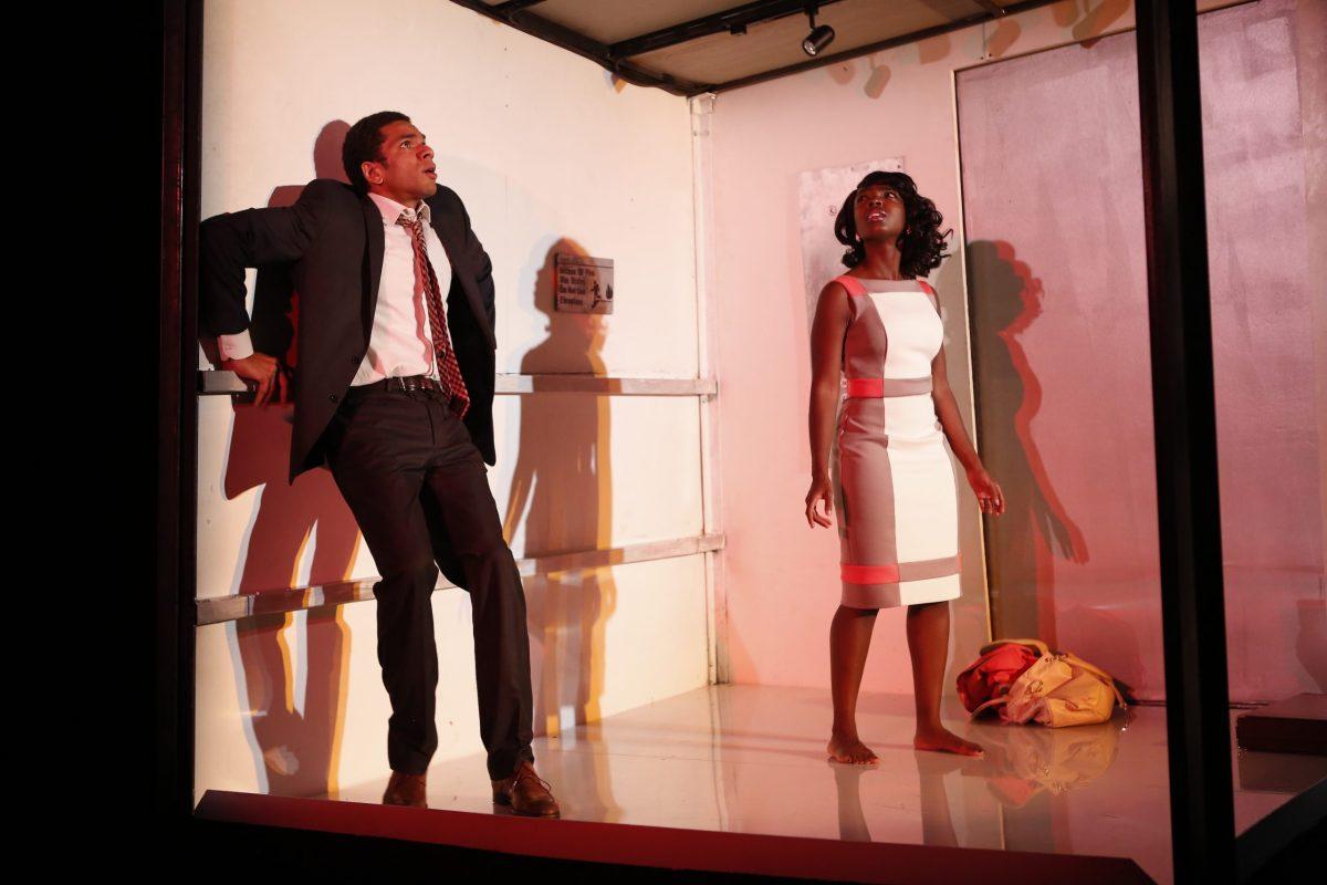 "Biko Eisen-Martin and MaameYaa Boafo in Walter Mosley's ""Lift"" at 59E59 Theaters (103108)"